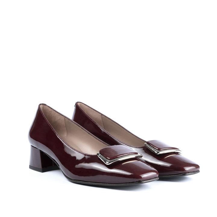Zapato charol burdeos 17021