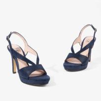 sandalia azul marino con plataforma joni shoes 18200