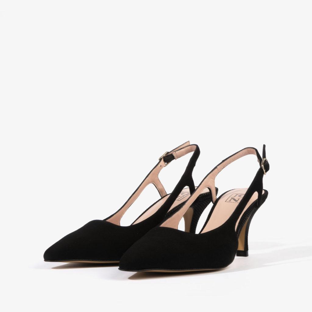 salon joni shoes confeccionado en ante de color negro 18459