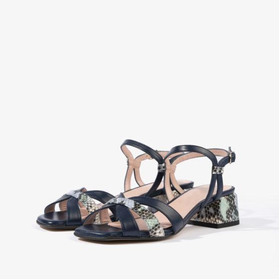 sandalia baja joni shoes en color azul noche 18053