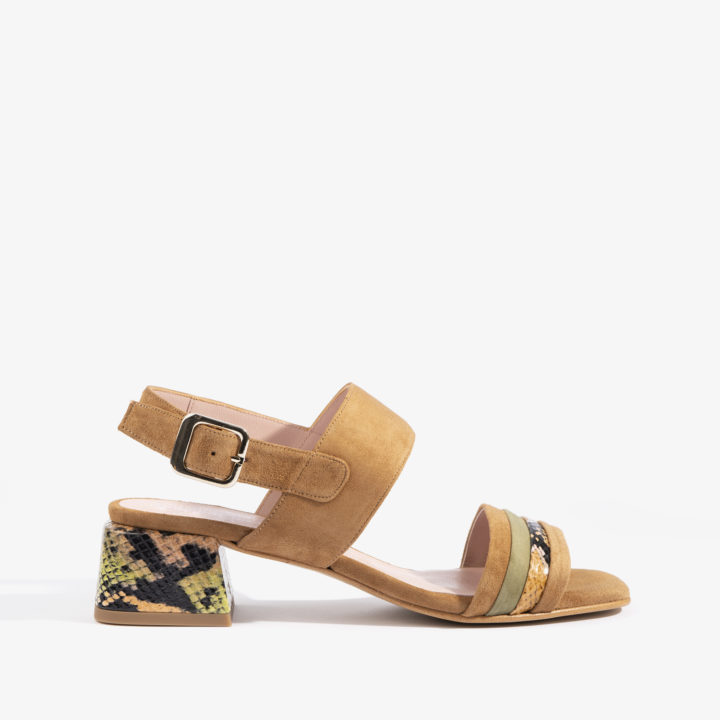 sandalia brandy con estampado serpiente joni shoes 18058