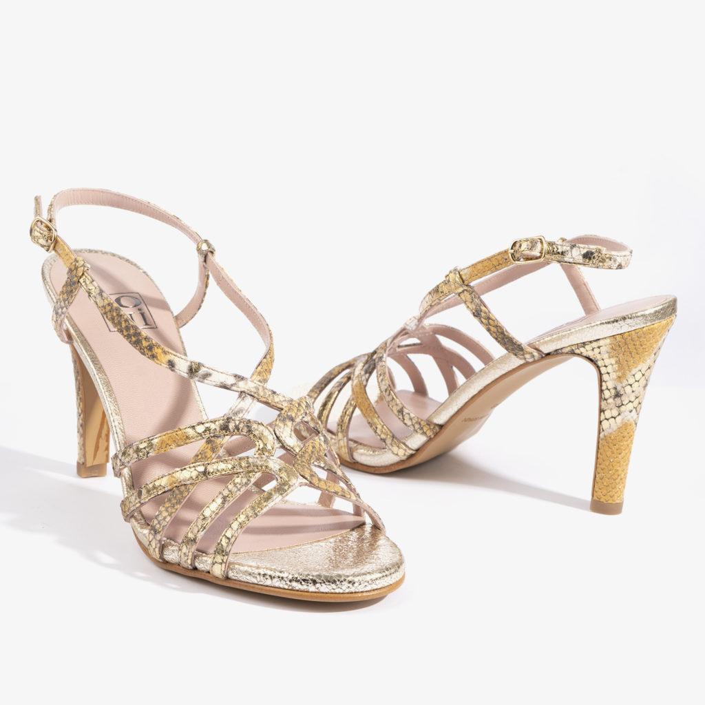 sandalia joni shoes en color dorado 18167