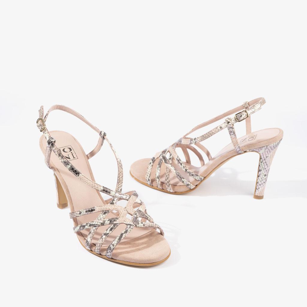 sandalia joni shoes en color rosa 18167