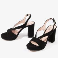 sandalia joni shoes confeccionada en ante color negro