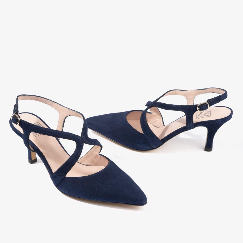 salon joni shoes confeccionado en ante de color azul