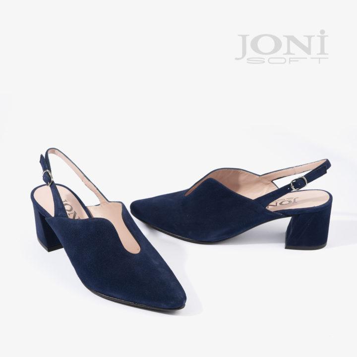 sandalia joni shoes confeccionada en ante azul 18504