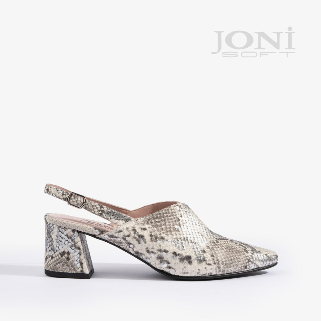 sandalia joni shoes confeccionada en estampado serpiente 18504