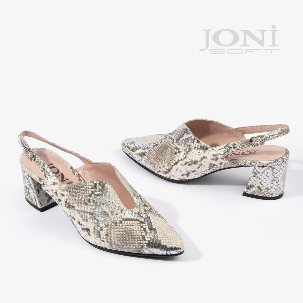 sandalia joni shoes confeccionada en estampado serpiente 18504