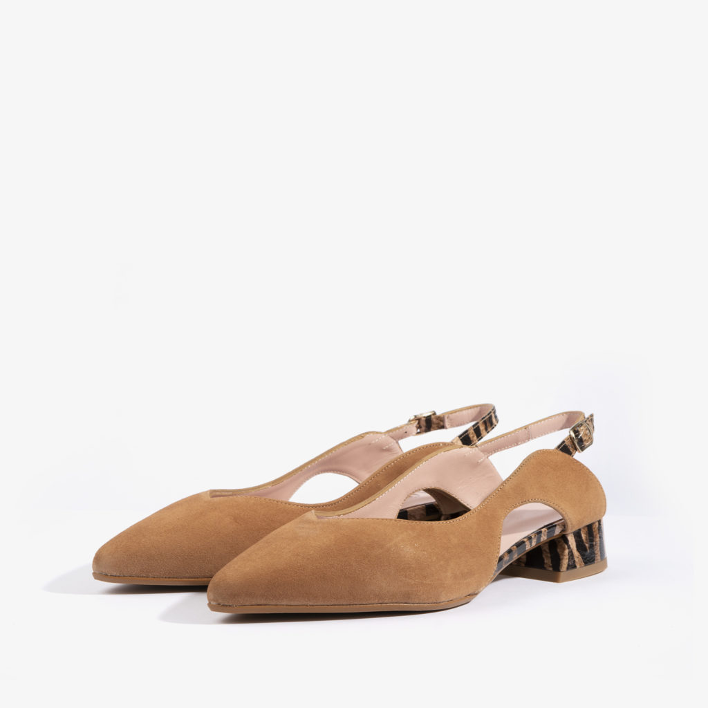 sandalia confeccionada en ante con color brandy 18751 joni shoes