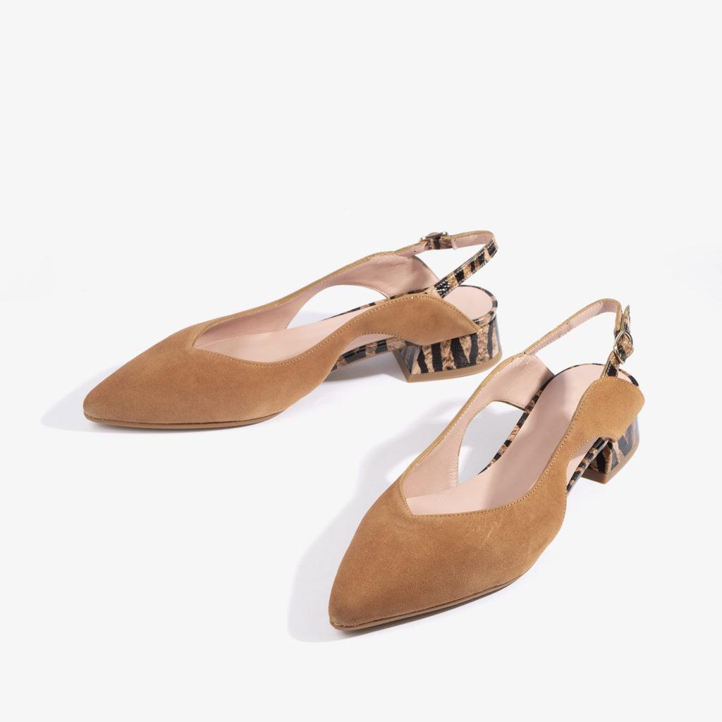 sandalia confeccionada en ante con color brandy 18751 joni shoes