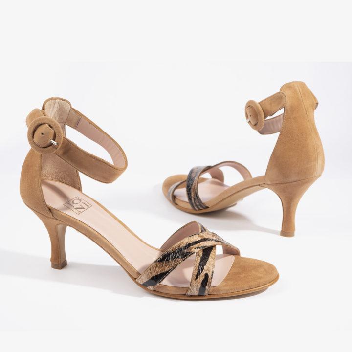 sandalia joni shoes confeccionada en ante con color brandy 18806