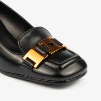 Zapato de tacón negro 07141