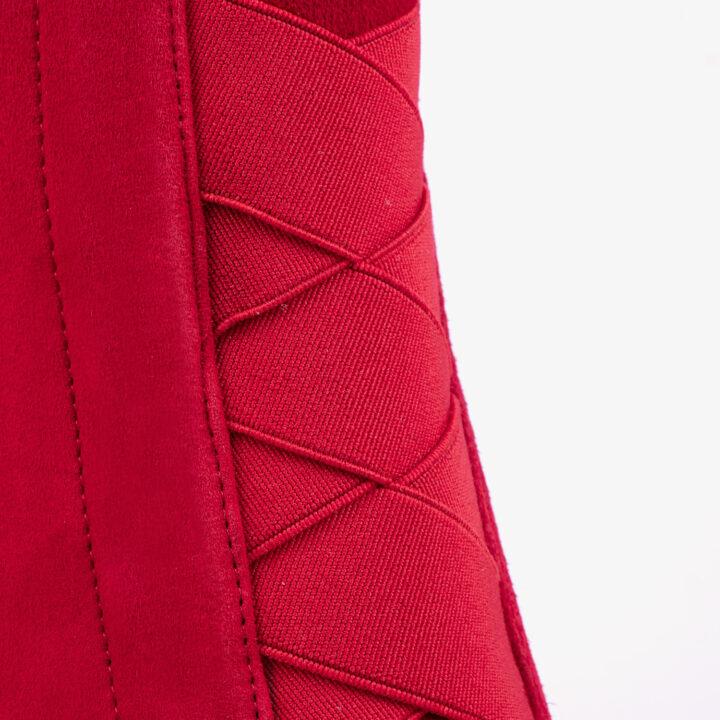 Botín de tacón Rojo 21128