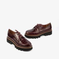 Zapato burdeos cocodrilo 21384