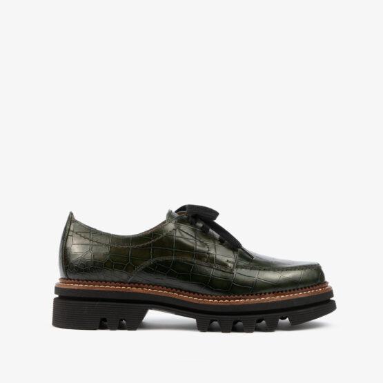 Zapato verde oscuro 21384